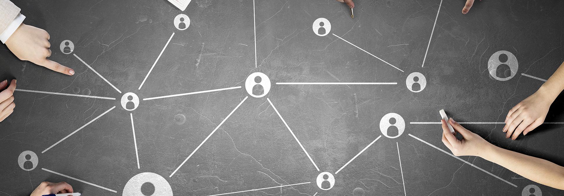 Grafica collegamenti tra persone