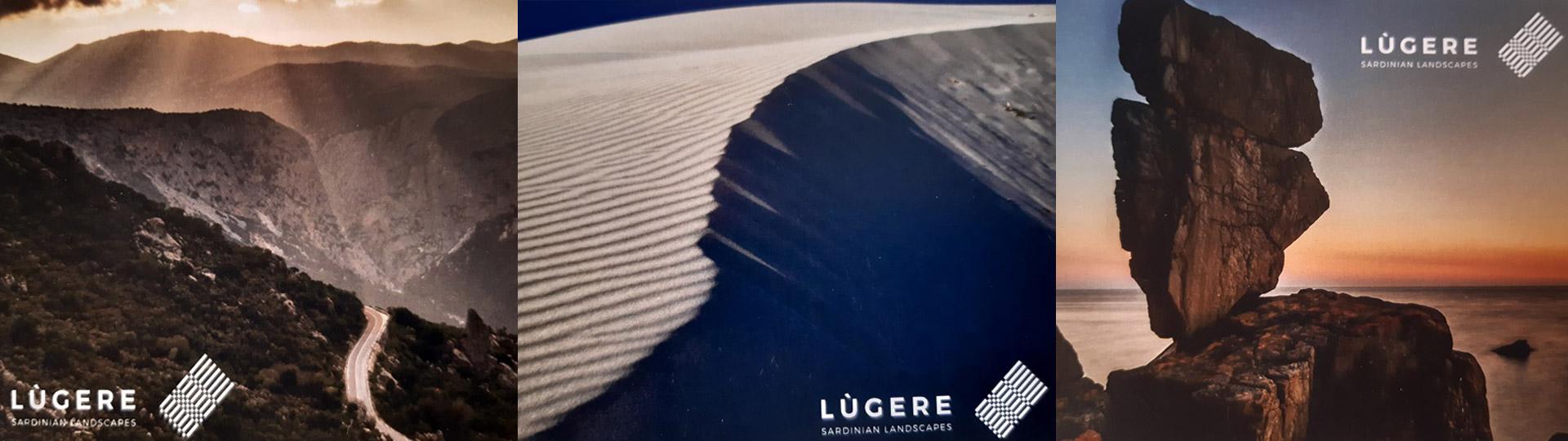 Composizione di tre immagini del progetto Lùgere